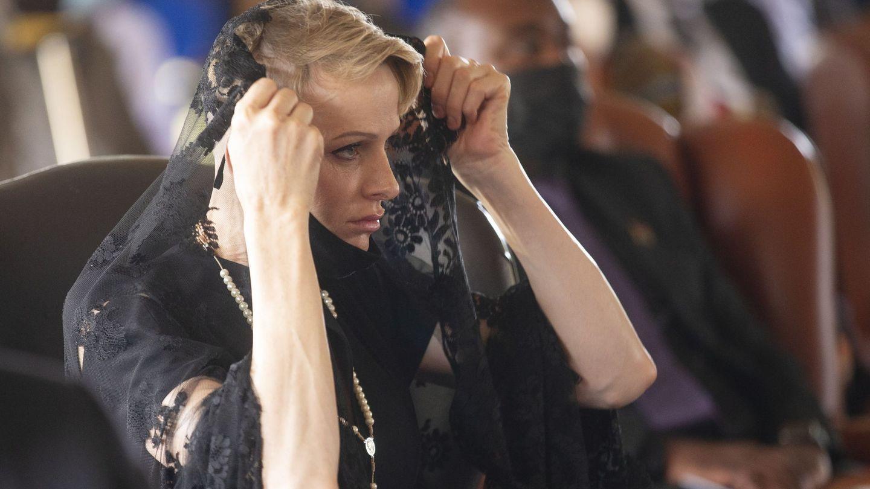 Charlène, durante el memorial de Goodwill Zwelithini. (EFE)