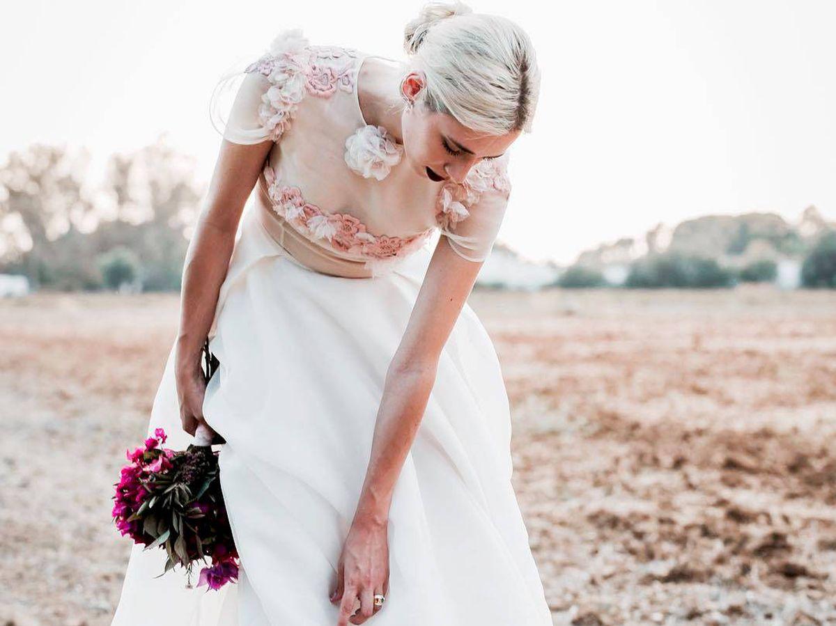 Foto: Lulú Figueroa, el día de su boda. (Redes / Click10 Fotografía)