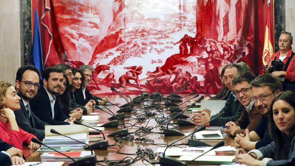Sánchez avanza con Rivera mientras da vida al bloque de IU, Podemos y Compromís