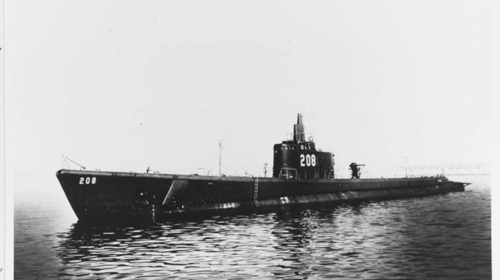 Foto: El submarino USS Grayback durante la Segunda Guerra Mundial. (Tim Taylor/Lost52 Project)