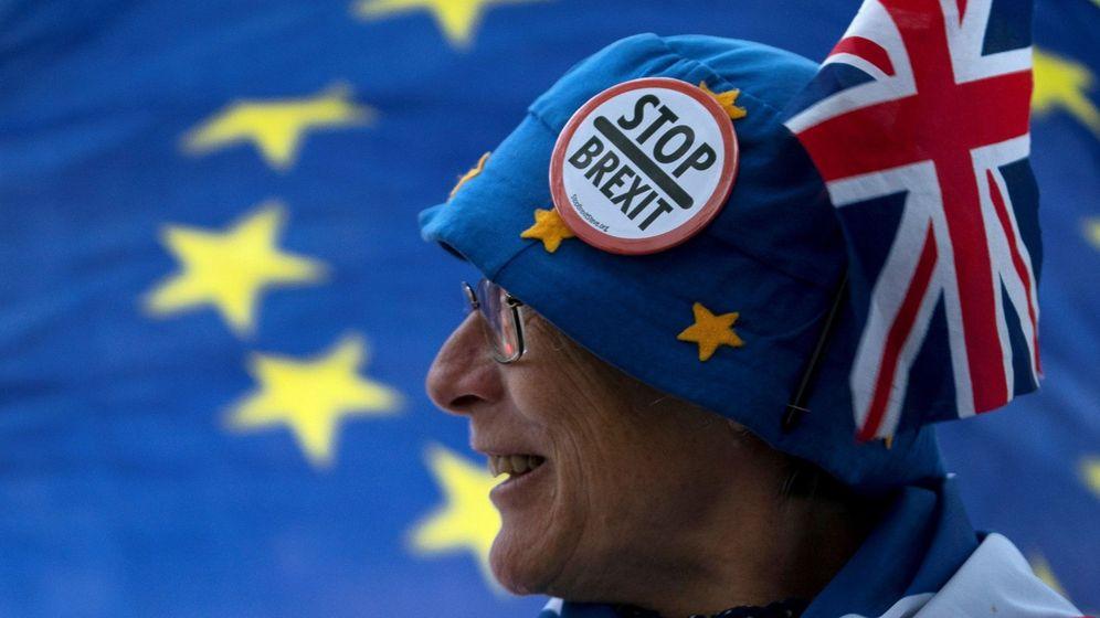 Foto: Protestas en londres contra el brexit. (EFE)
