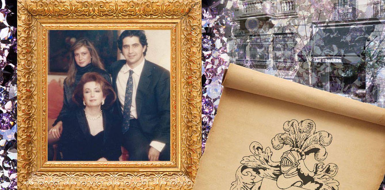 Foto: Eduardo junto a su madre y su esposa en un fotomontaje de Vanitatis