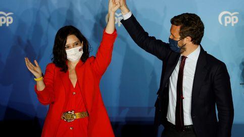 El 4-M, en directo - De rojo Madrid y Zara: el look de la victoria de Isabel Díaz Ayuso