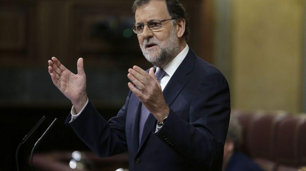 Foto: Mariano Rajoy, durante la segunda sesión del debate de investidura (Efe).