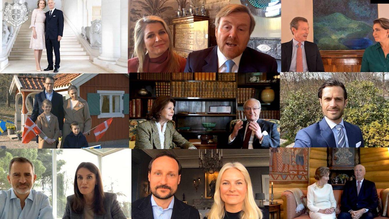 Felipe y Letizia participan en un vídeo con todos los royals para felicitar a Margarita II