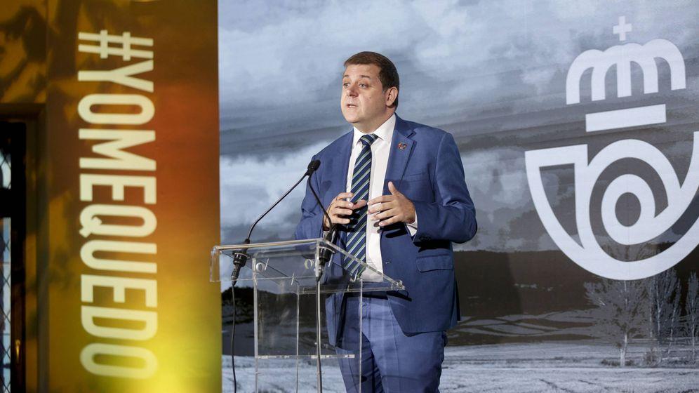 Foto: Juan Manuel Serrano, presidente de Correos, durante la presentación de la nueva campaña de Correos Market.