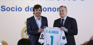 Post de Fernando Alonso recibe la distinción de socio de honor del Real Madrid
