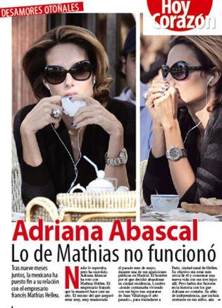 Foto: Villalonga se casa… Adriana Abascal rompe con su novio