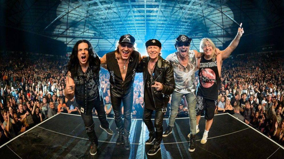 Foto: Scorpions tras un concierto de este año. (Foto: Jovan Nenadic)