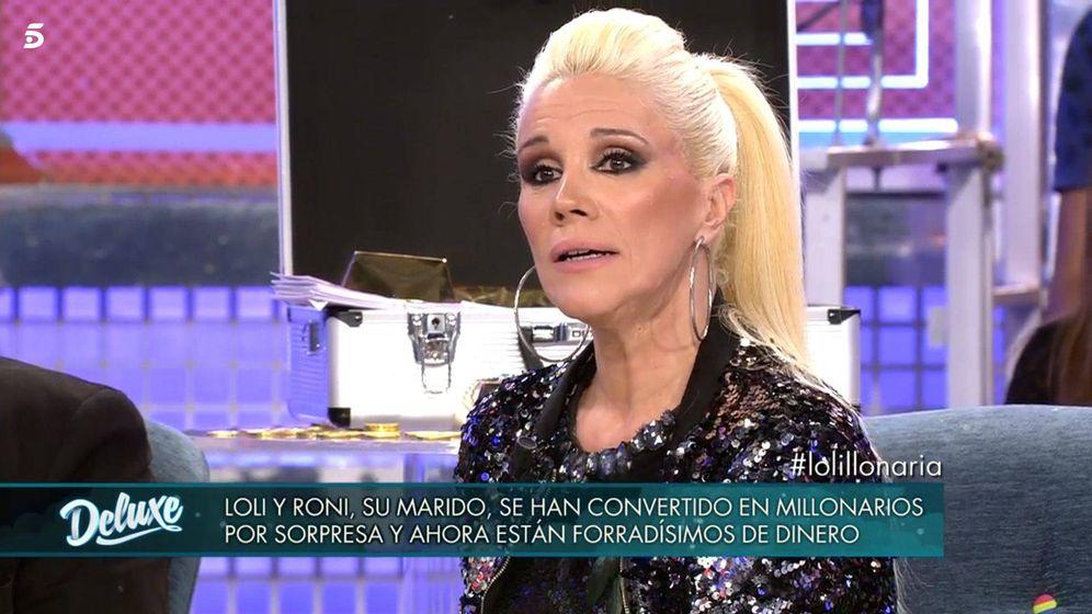 Foto: Loli Álvarez, en 'Sábado Deluxe'. (Telecinco)