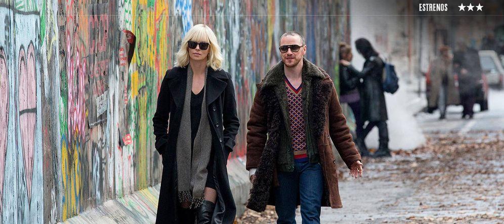 Foto: Charlize Theron y James McAvoy protagonizan 'Atómica'. (DeAPlaneta)
