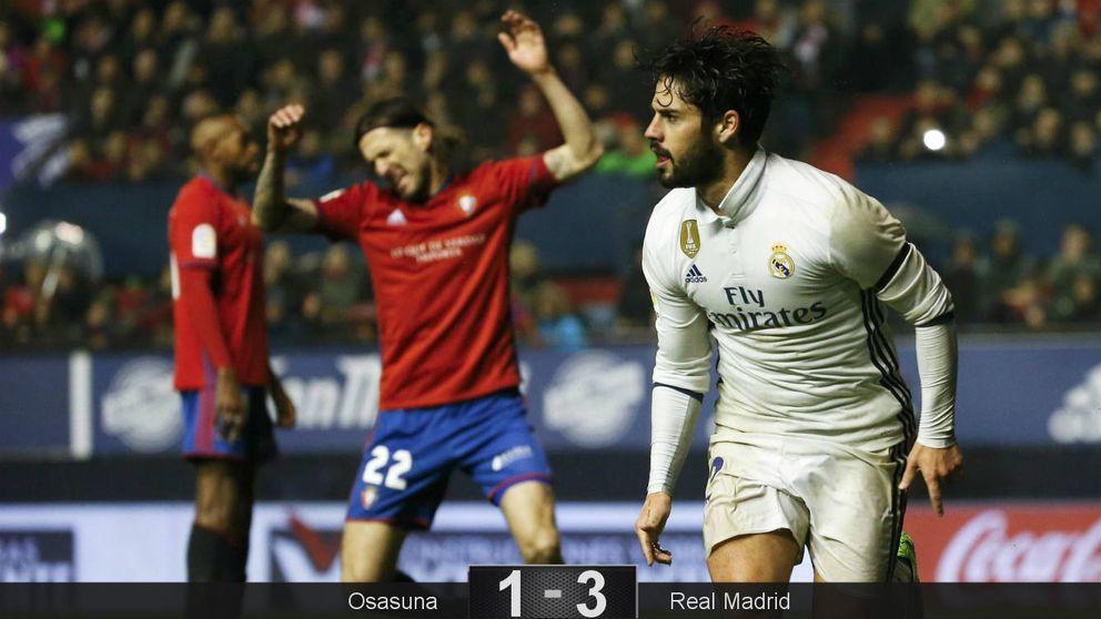 Isco soluciona el lío en el que se metió Zidane con su defensa de tres centrales