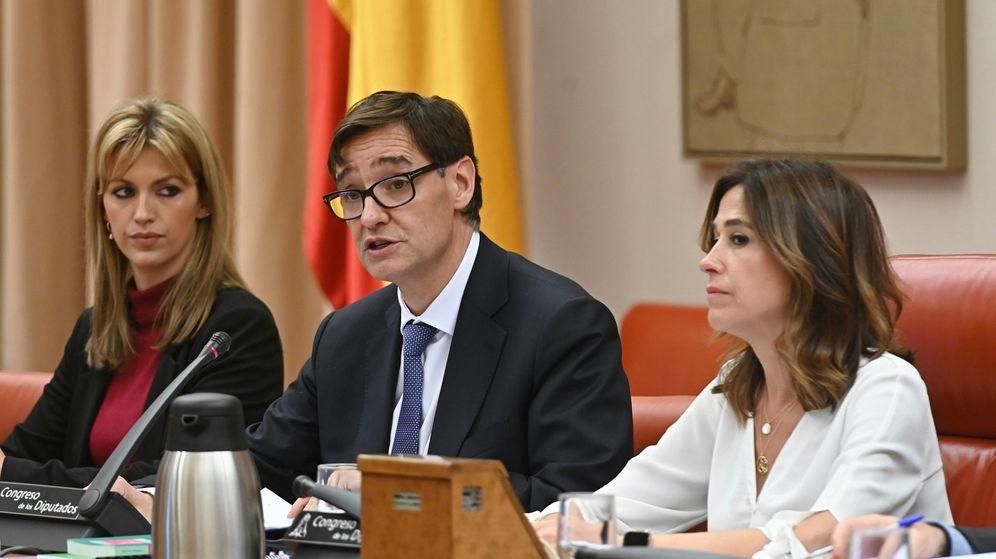Foto: Salvador Illa en rueda de prensa. (EFE)