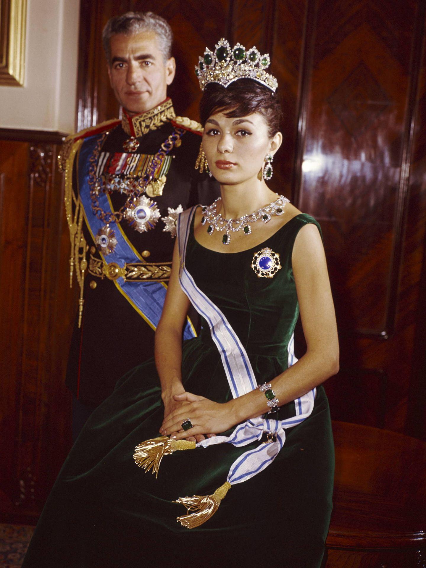 El sha de Irán y Farah Diba. (Getty)