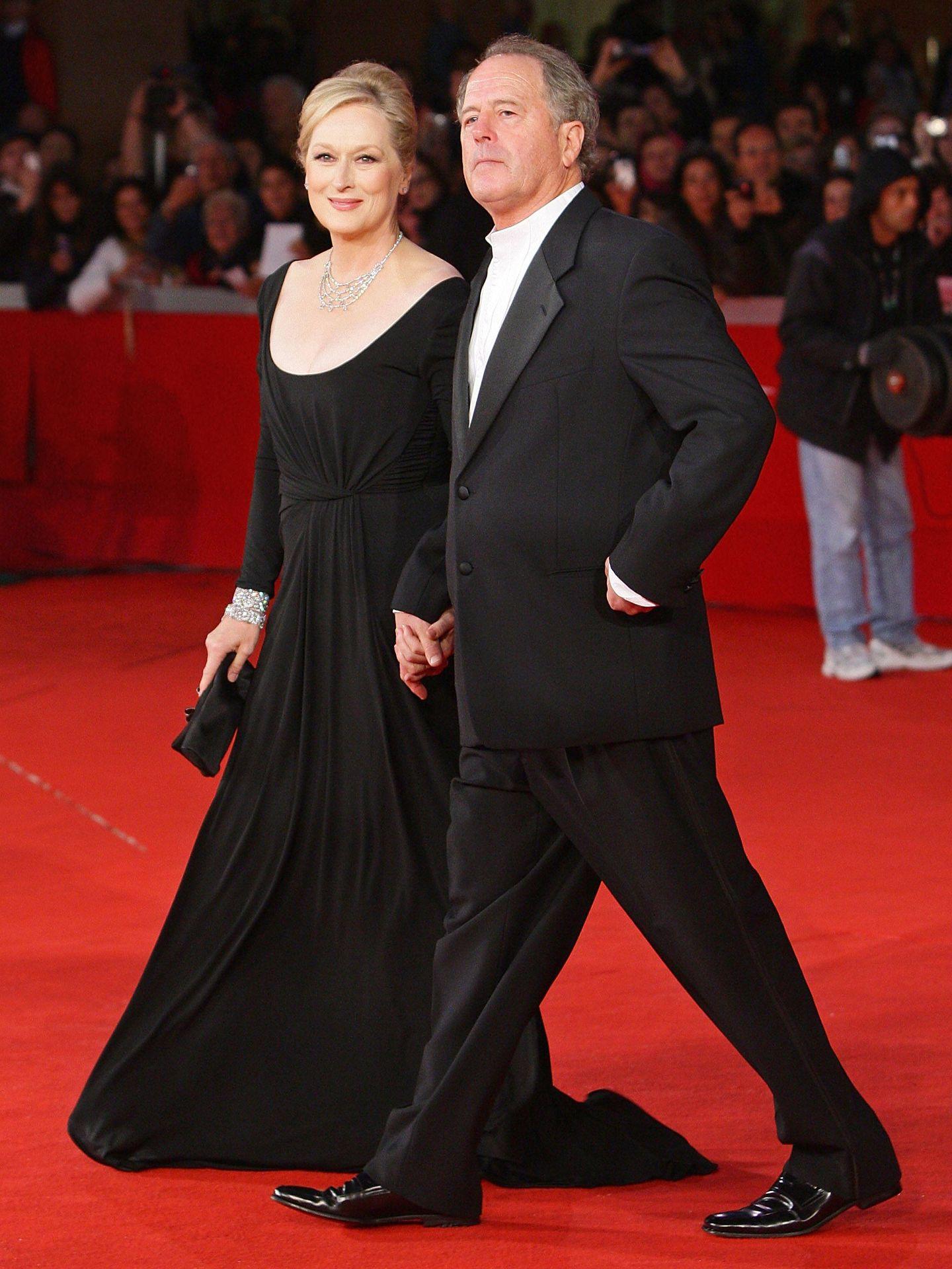 Meryl Streep con su marido, Don Gummer, en Roma. (Getty)