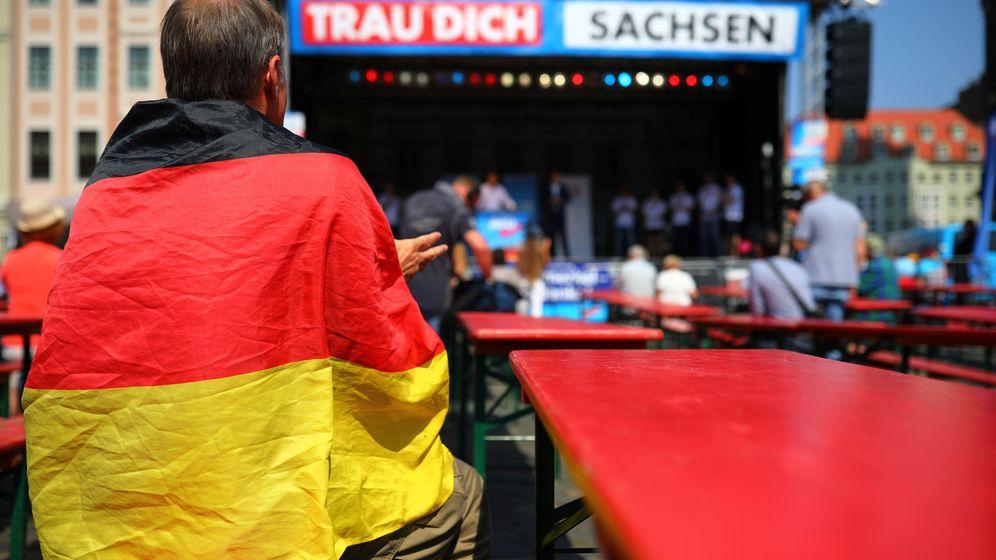 Foto: Campaña de AfD en Sajonia. (Reuters)