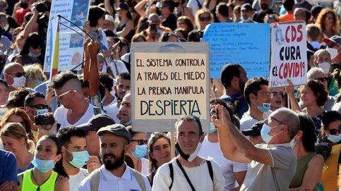 Multados 3o negacionistas del covid y un organizador en la protesta de Colón