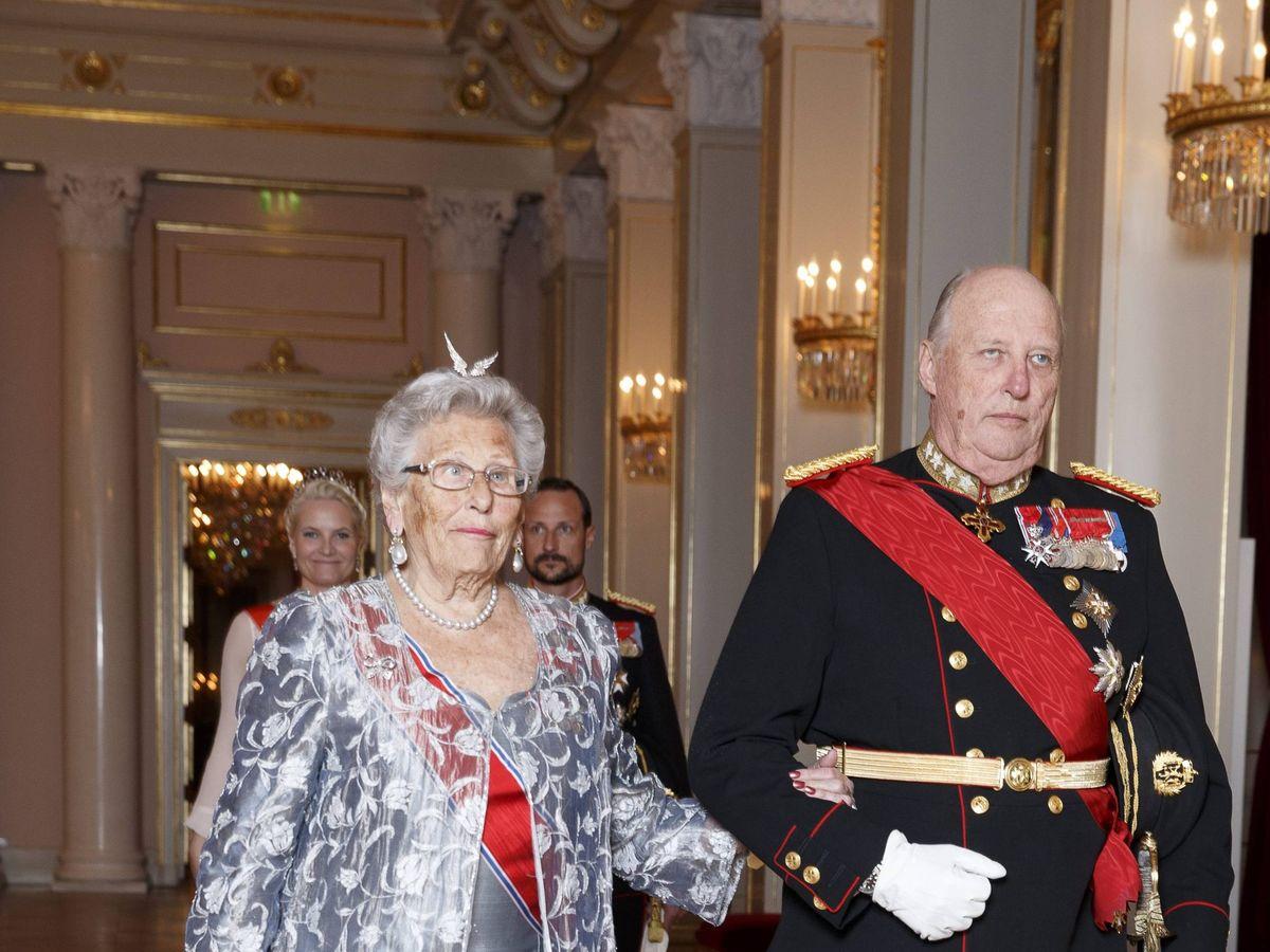 Foto: Harald y su hermana, la princesa Astrid. (Cordon Press)