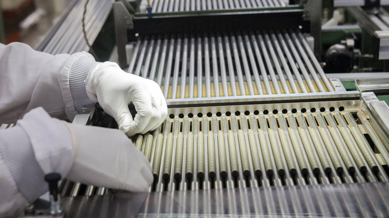 Pastillas preparadas para insertarse en las barras. (J.P)