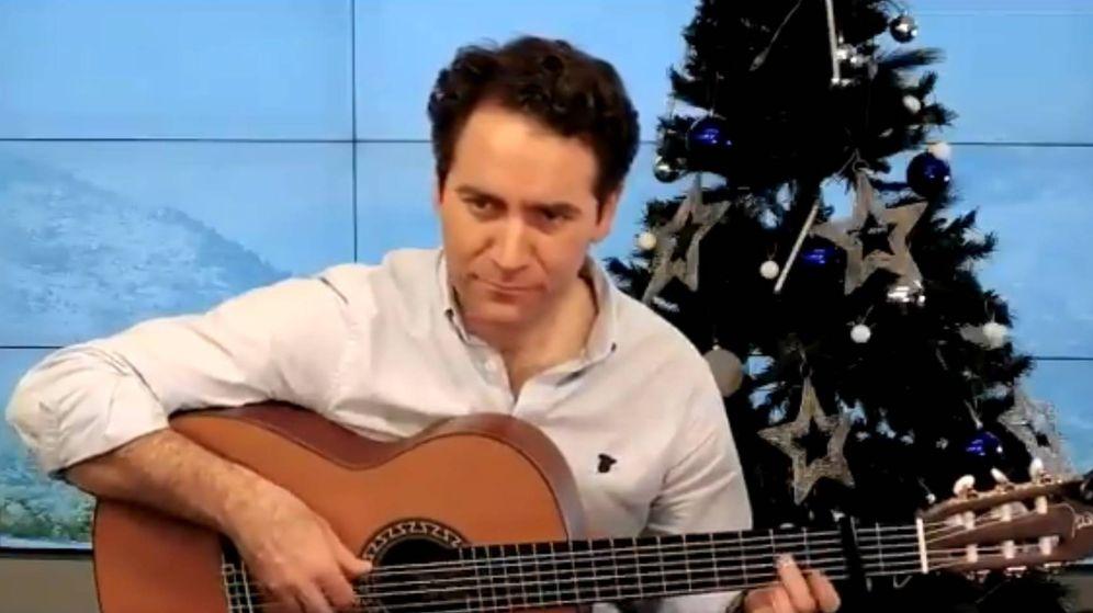 Foto: El secretario general de los populares, Teodoro García Egea, en su vídeo navideño.