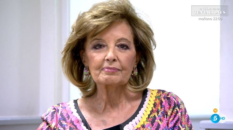 María Teresa Campos hablando en 'Sábado Deluxe'. (Telecinco).