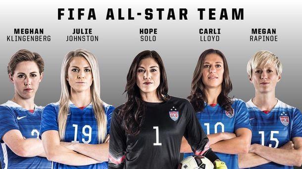 Foto: FIFA publicó este lunes una lista de las mejores jugadoras del Mundial, entre las que hay cinco estadounidenses.