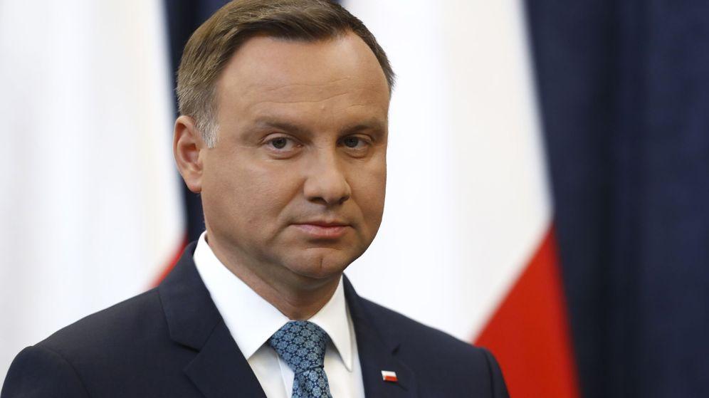Foto: El presidente de Polonia, Andrzej Duda, anuncia el veto en una intervención televisada. (Reuters)