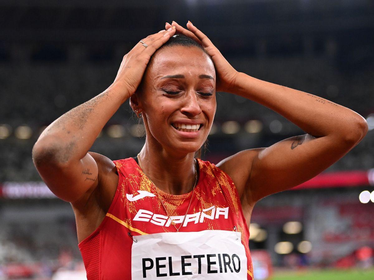 Foto: Ana Peleteiro celebra su bronce en triple salto. (Reuters)
