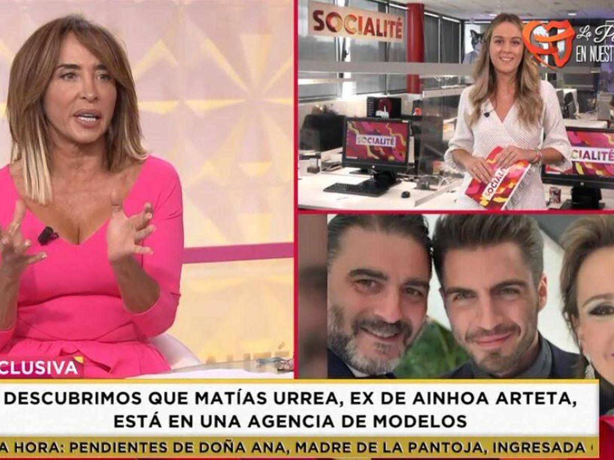 Foto: María Patiño, en 'Socialité'. (Mediaset España)