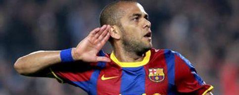 Foto: El twitter de Alves y otros jugadores del Barça fue 'hackeado' durante el partido
