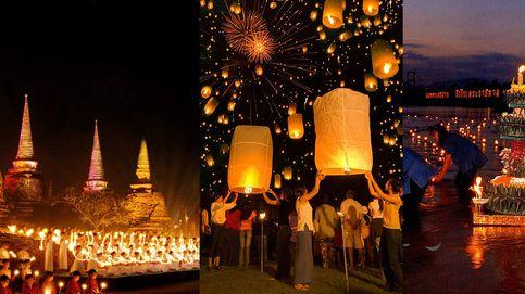Loi Krathong: el festival nocturno de las velas voladoras en Tailandia