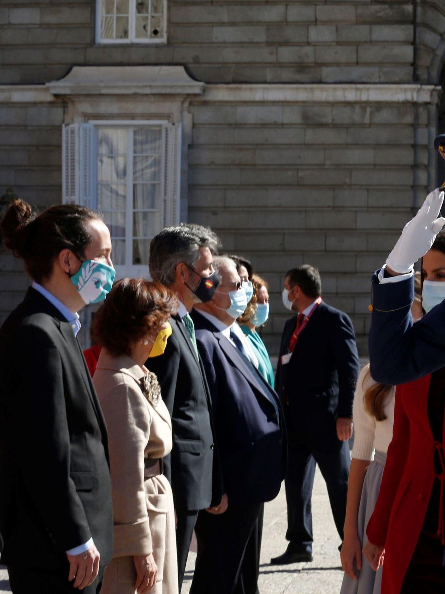 La vicepresidenta económica, Nadia Calviño, con su chaqueta de Varela. (EFE)