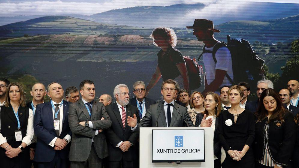 Foto: Feijóo y Casado en Fitur 2020. (EFE)