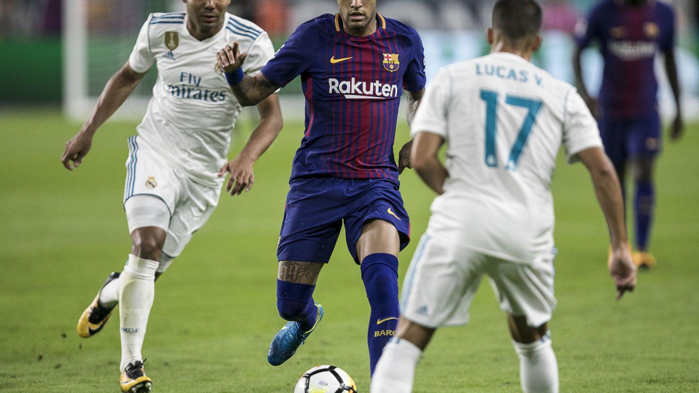 Neymar, Casemiro y Lucas Vázquez, en un amistoso disputado en Miami en 2017. (Reuters)