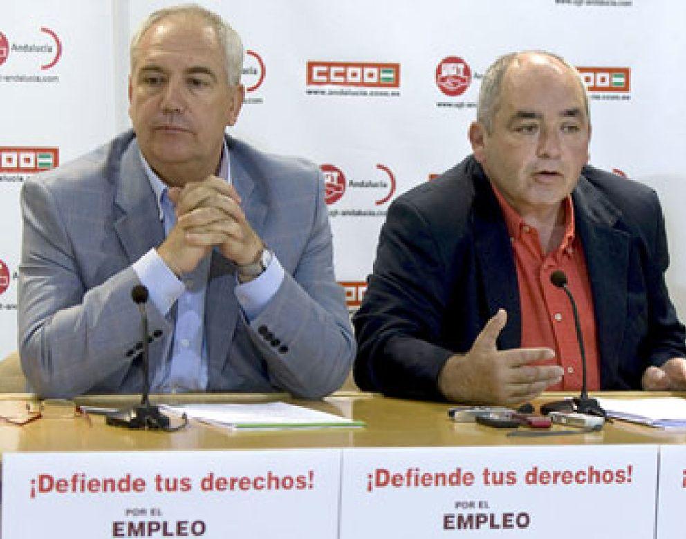 """Foto: Las cifras del paro provocan una """"guerra permanente"""" de UGT y CCOO contra los empresarios andaluces"""