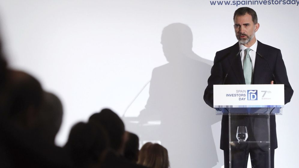 Foto: Felipe VI, durante su intervención en la inauguración de la VII edición del Spain Investors Day. (EFE)
