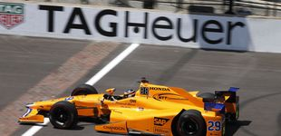 Post de Alonso empieza a tener cierta idea de por dónde le viene el viento en  Indianápolis