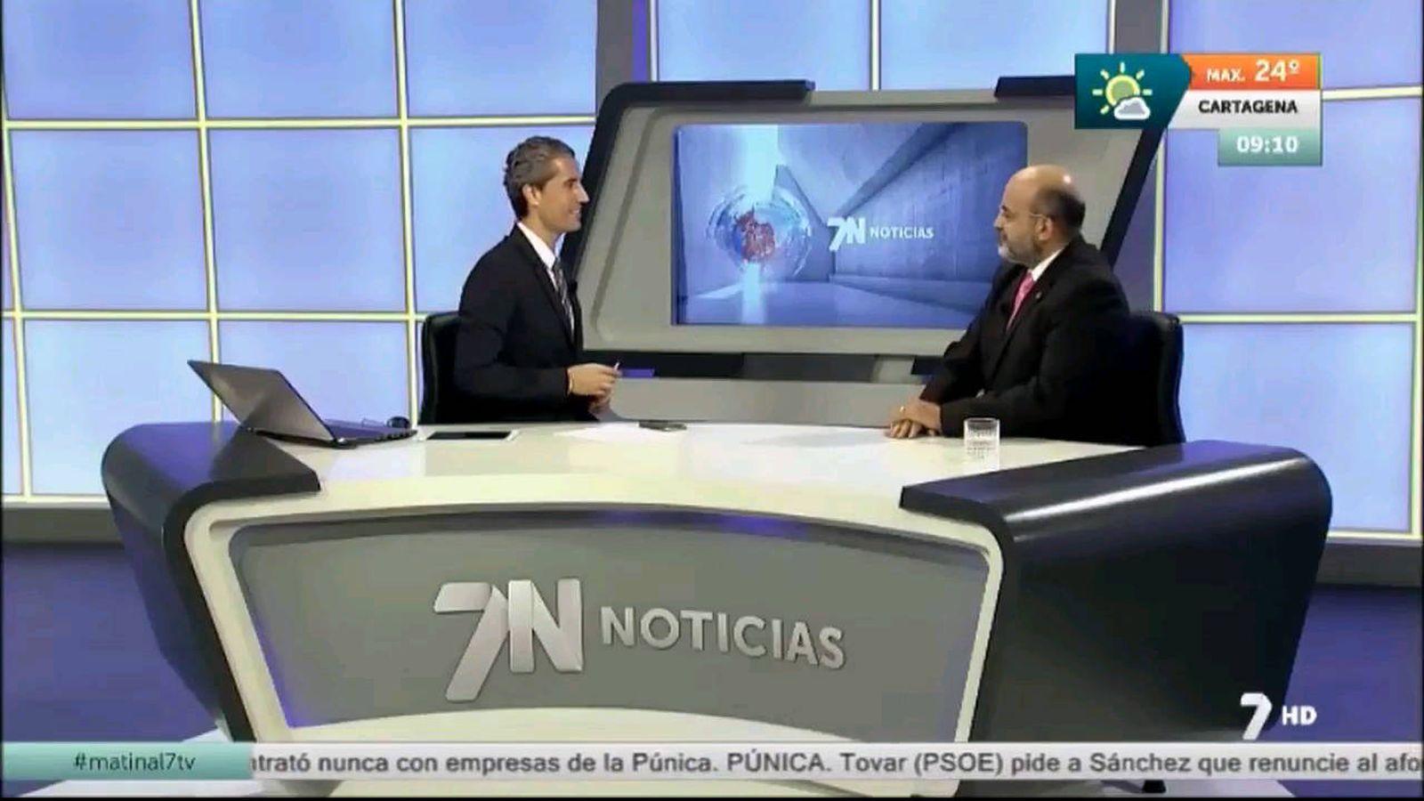 Foto: Imagen de los actuales informativos de La 7 Región de Murcia. (EC)