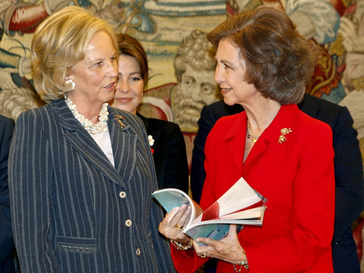 Foto: La reina Sofía, con la princesa María Luisa de Prusia en una imagen de archivo. (EFE)