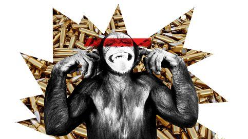 Monos con metralletas