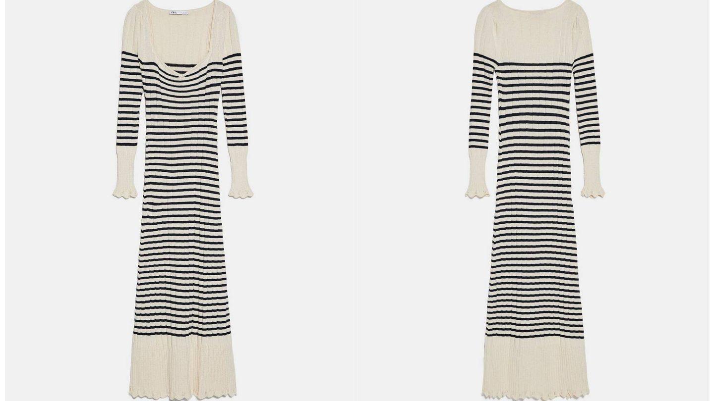 El vestido de punto de Zara (Cortesía)