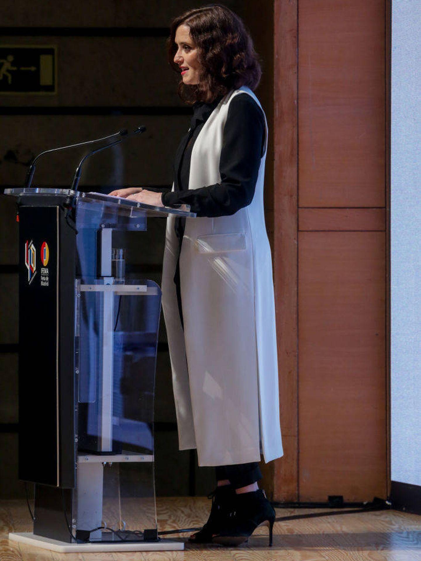 El look de Isabel Díaz Ayuso, al detalle.  (Getty)