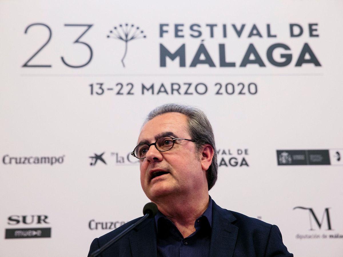 Foto:  El director del Festival de Cine en Español de Málaga, Juan Antonio Vigar, en la presentación de la 23 edición del certamen (EFE).