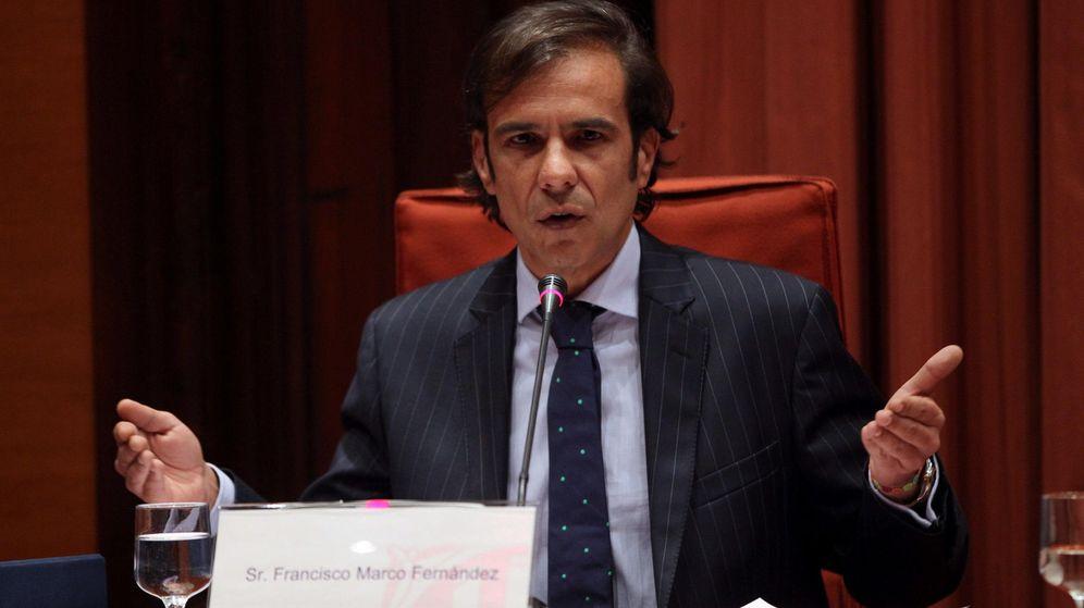 Foto: El exdirector de la desaparecida agencia de detectives Método 3 Francisco Marc, durante su comparecencia en la comisión de investigación del Parlament. (EFE)