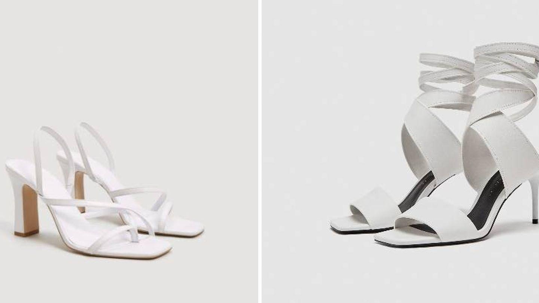 Sandalias de Mango y Zara. (Web de las firmas)