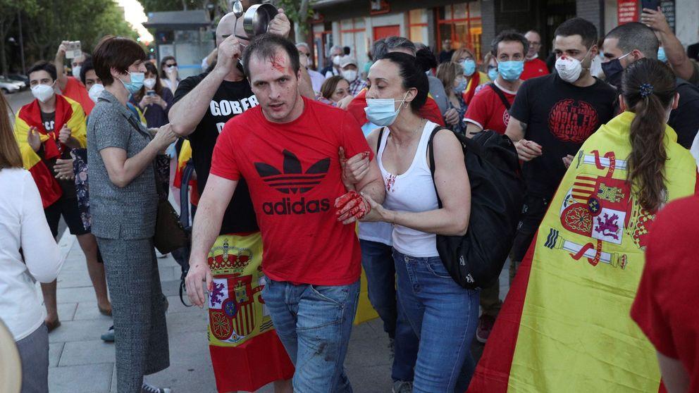 Aumenta la tensión en las manifestaciones, que terminan con un herido en Madrid