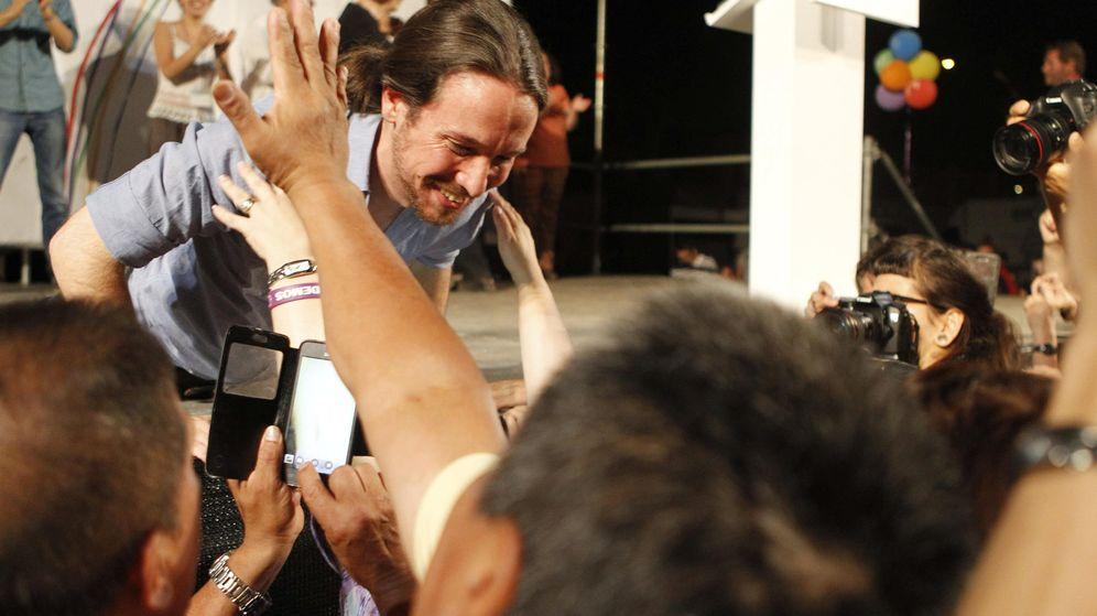 Foto: El secretario general de Podemos, Pablo Iglesias, en el Foro por el Cambio. (EFE)