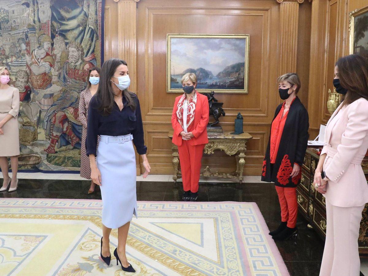 Foto:  La reina Letizia, durante la audiencia. (Casa Real)