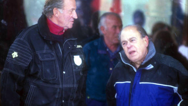 El rey Juan Carlos y Jordi Pujol.
