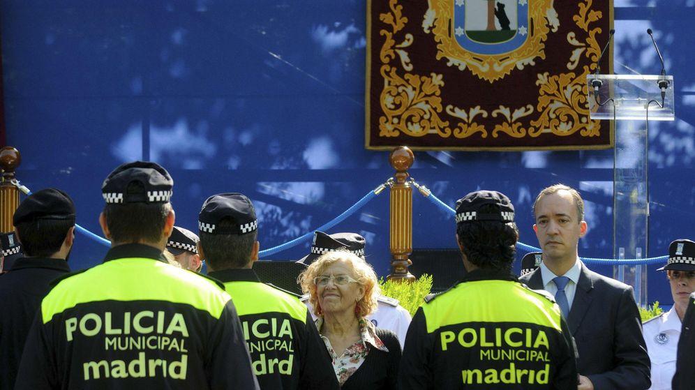 Foto: La alcaldesa Manuela Carmena, en un acto de la Policía Municipal.